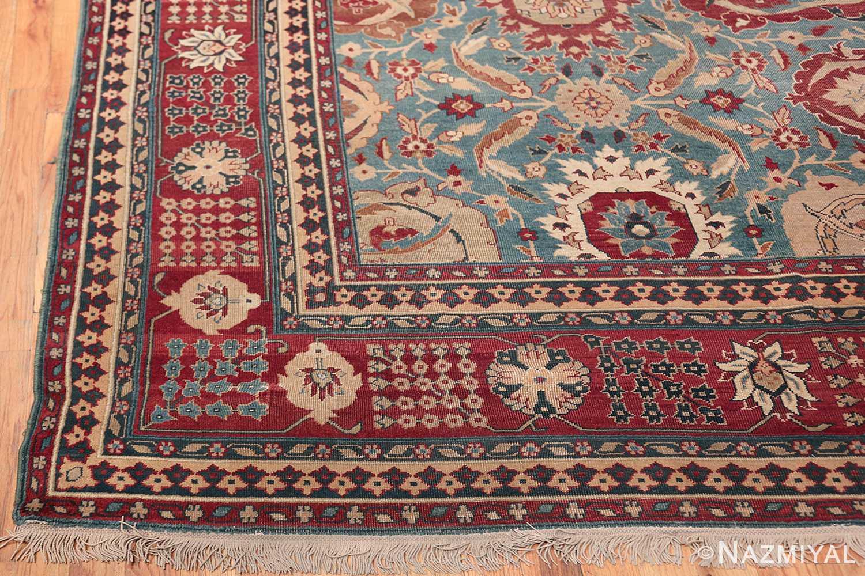 Large Antique Vase Design Indian Agra Rug 3342 Side Corner Nazmiyal