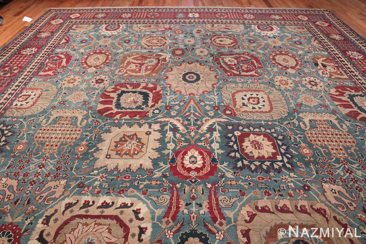 Large Antique Vase Design Indian Agra Rug 3342 Top Design Nazmiyal