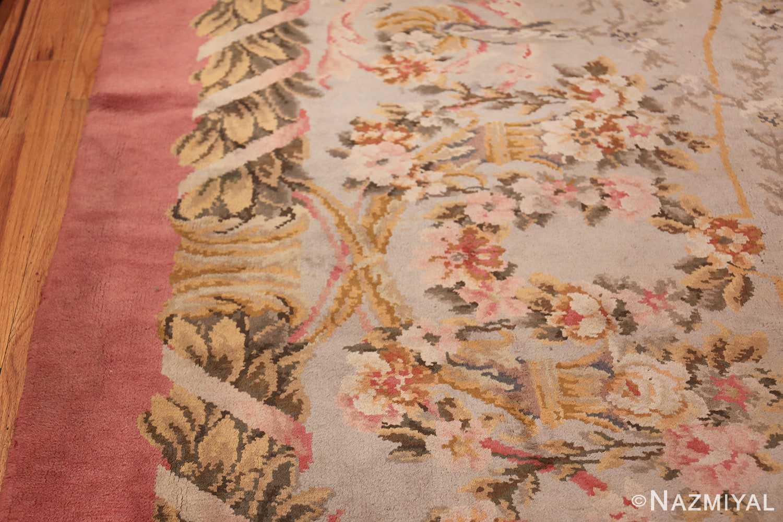 Large Floral Antique French Savonnerie Carpet 3253 Border Design Nazmiyal