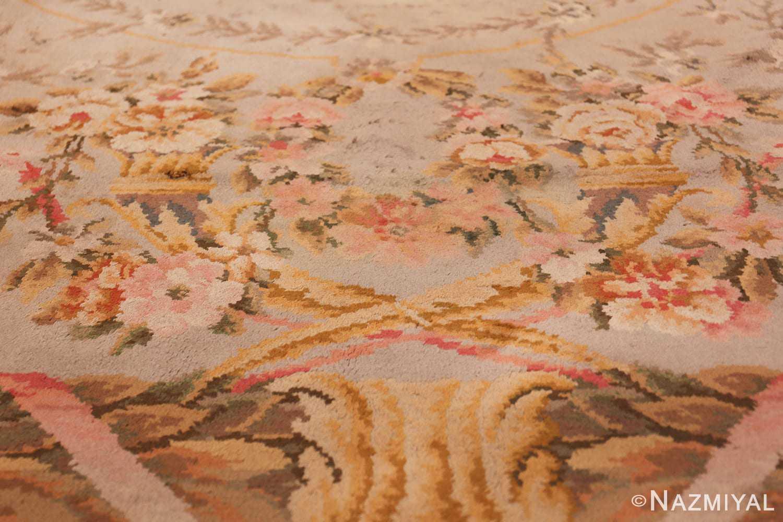 Large Floral Antique French Savonnerie Carpet 3253 Lower Design Nazmiyal