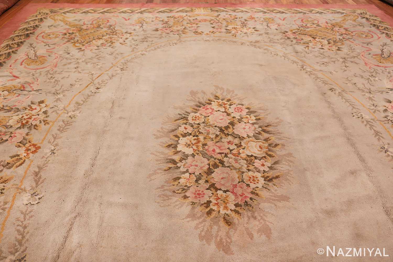 Large Floral Antique French Savonnerie Carpet 3253 Top Design Nazmiyal