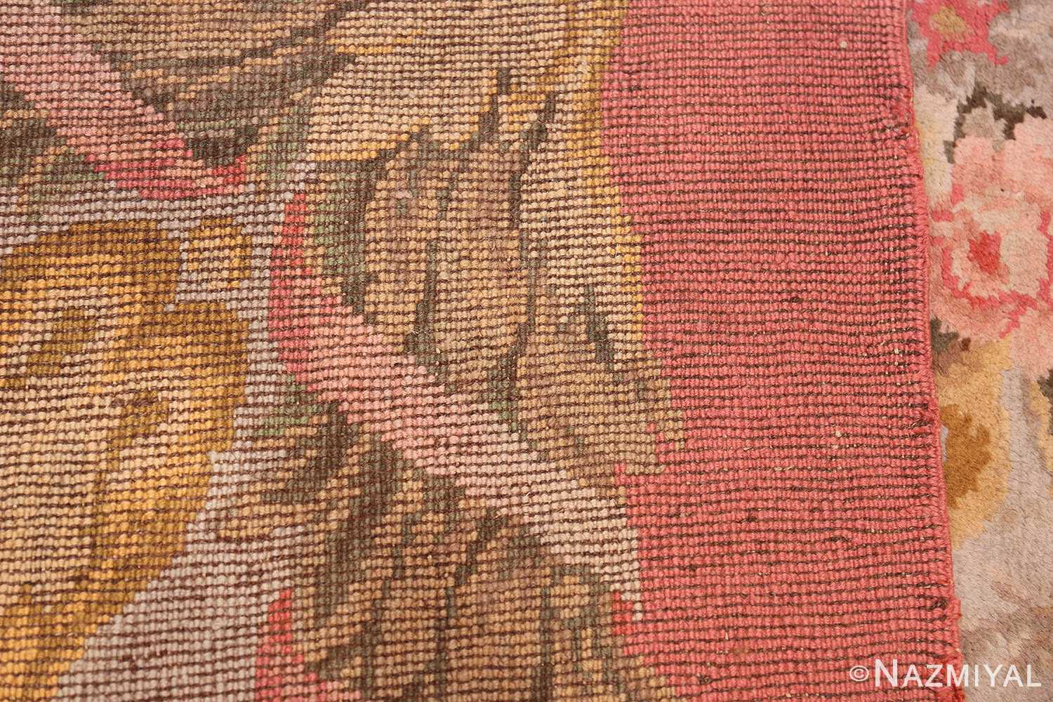 Large Floral Antique French Savonnerie Carpet 3253 Woven Knots Nazmiyal