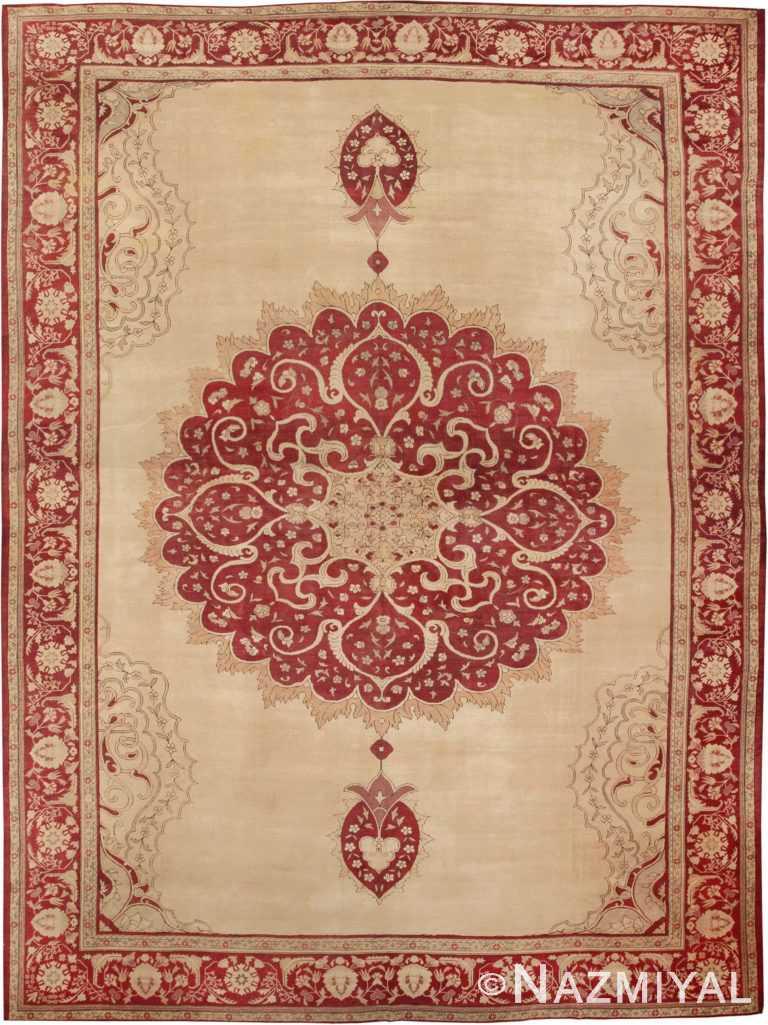 Large Oversized Antique Turkish Ghiordes Rug #565 by Nazmiyal Antique Rugs