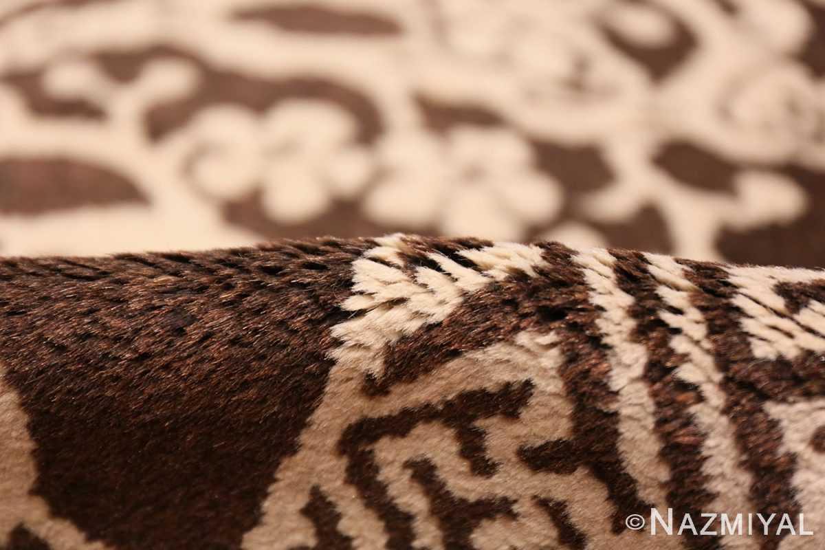 Pile Small Brown Antique Peking Chinese carpet 1620 by Nazmiya