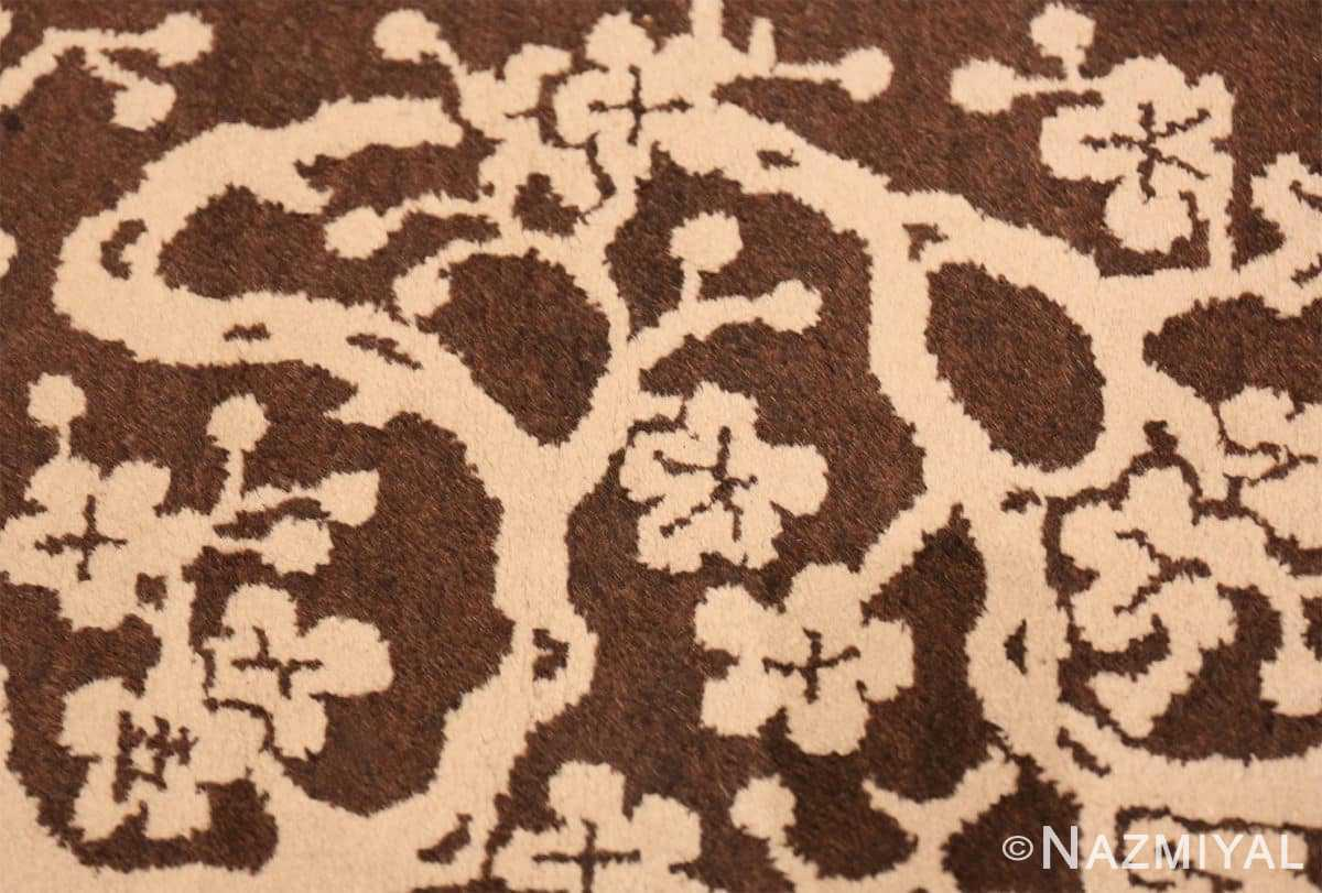 Tree Small Scatter size Brown Antique Chinese Peking rug 1619 by Nazmiyal