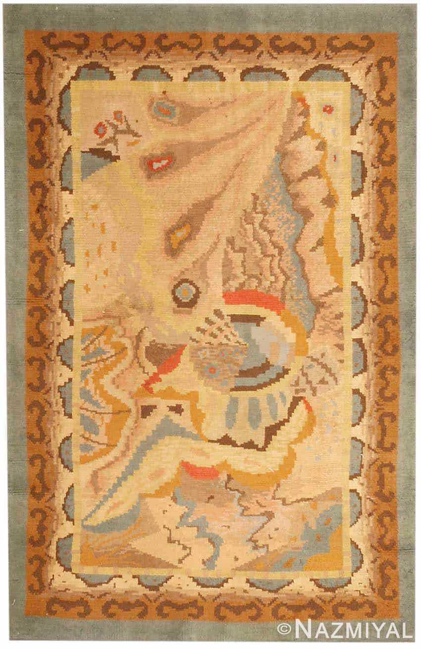 vintage french art deco rug 2858 Nazmiyal