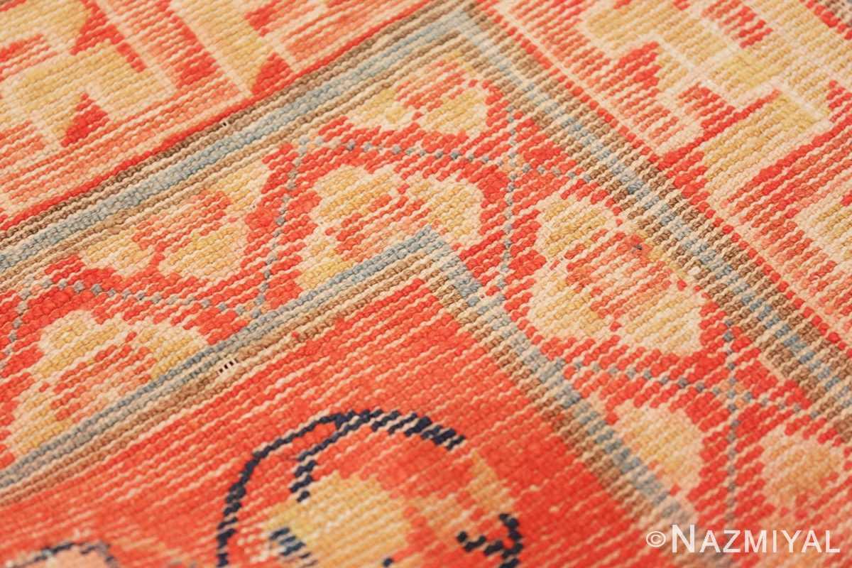 Weave detail Red Background Ningxhia Antique Chinese rug 43024 by Nazmiyal