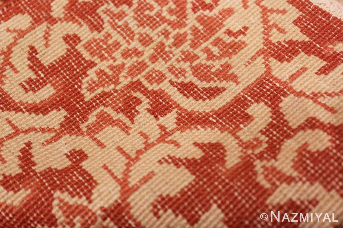 Weave detail small scatter size Antique Oriental Chinese carpet 2608 by Nazmiyal