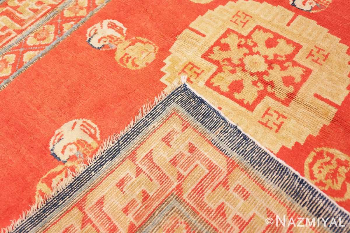 Weave Red Background Ningxhia Antique Chinese rug 43024 by Nazmiyal