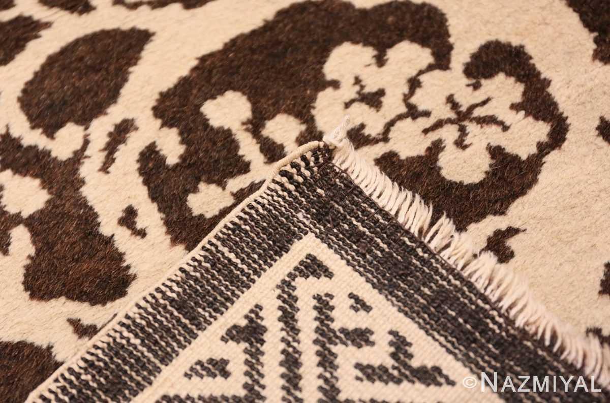 Weave Small Brown Antique Peking Chinese carpet 1620 by Nazmiya