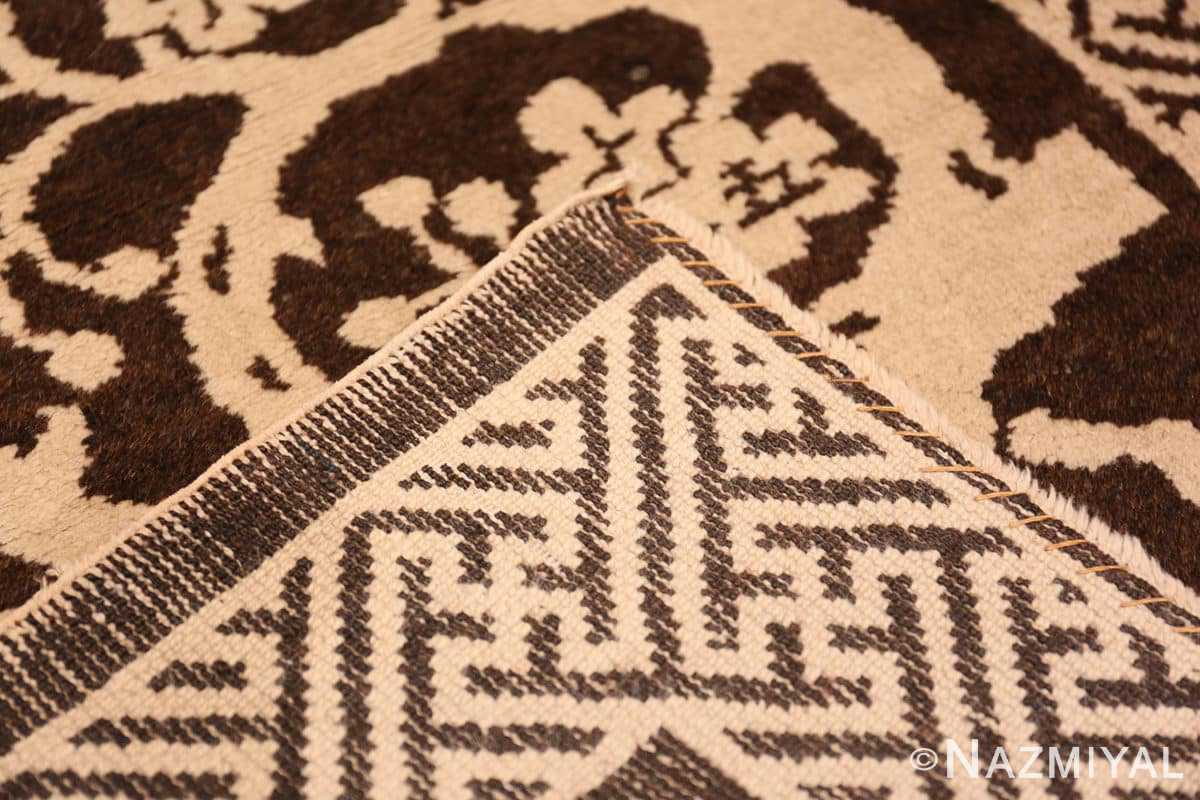 Weave Small Scatter size Brown Antique Chinese Peking rug 1619 by Nazmiyal