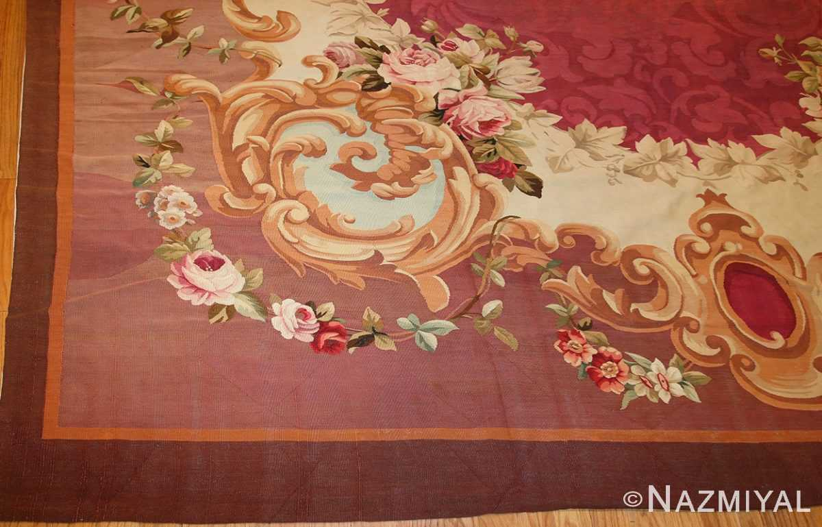 antique french aubusson rug 43636 border Nazmiyal