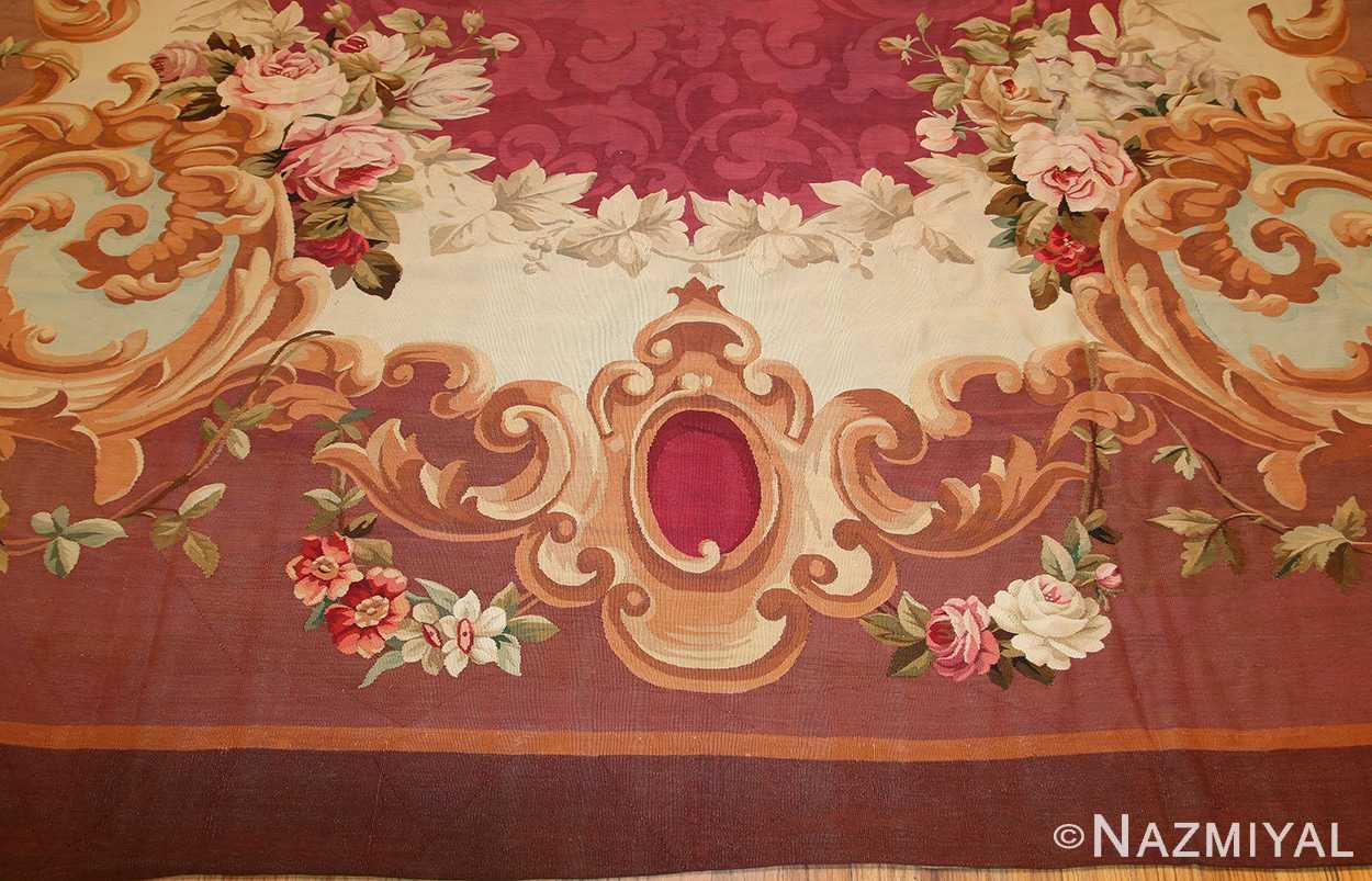 antique french aubusson rug 43636 design Nazmiyal