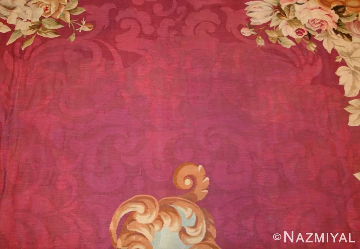 antique french aubusson rug 43636 field Nazmiyal