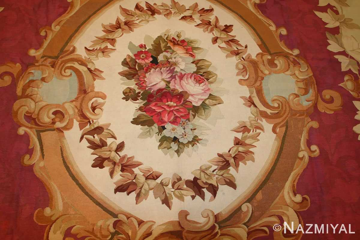 antique french aubusson rug 43636 medallion Nazmiyal