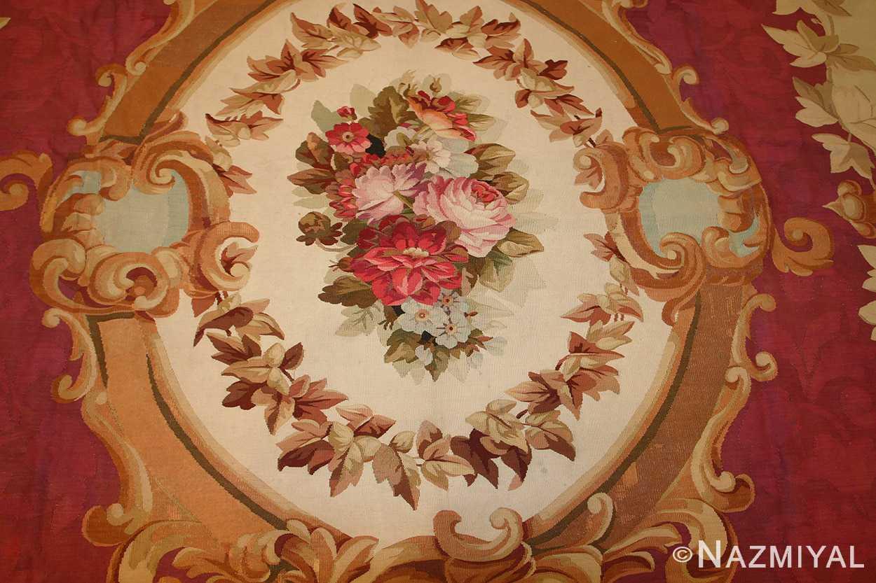 antique french aubusson rug 43636 medallion Nazmiyal