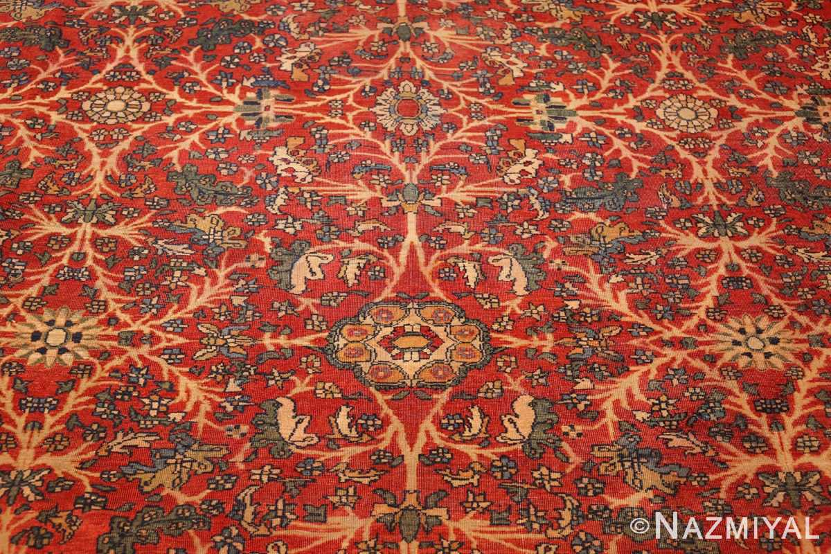 fine antique persian sarouk farahan rug 43447 detailed Nazmiyal