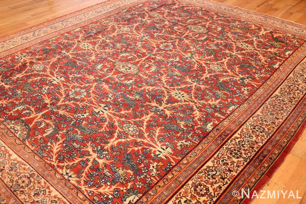 fine antique persian sarouk farahan rug 43447 side Nazmiyal