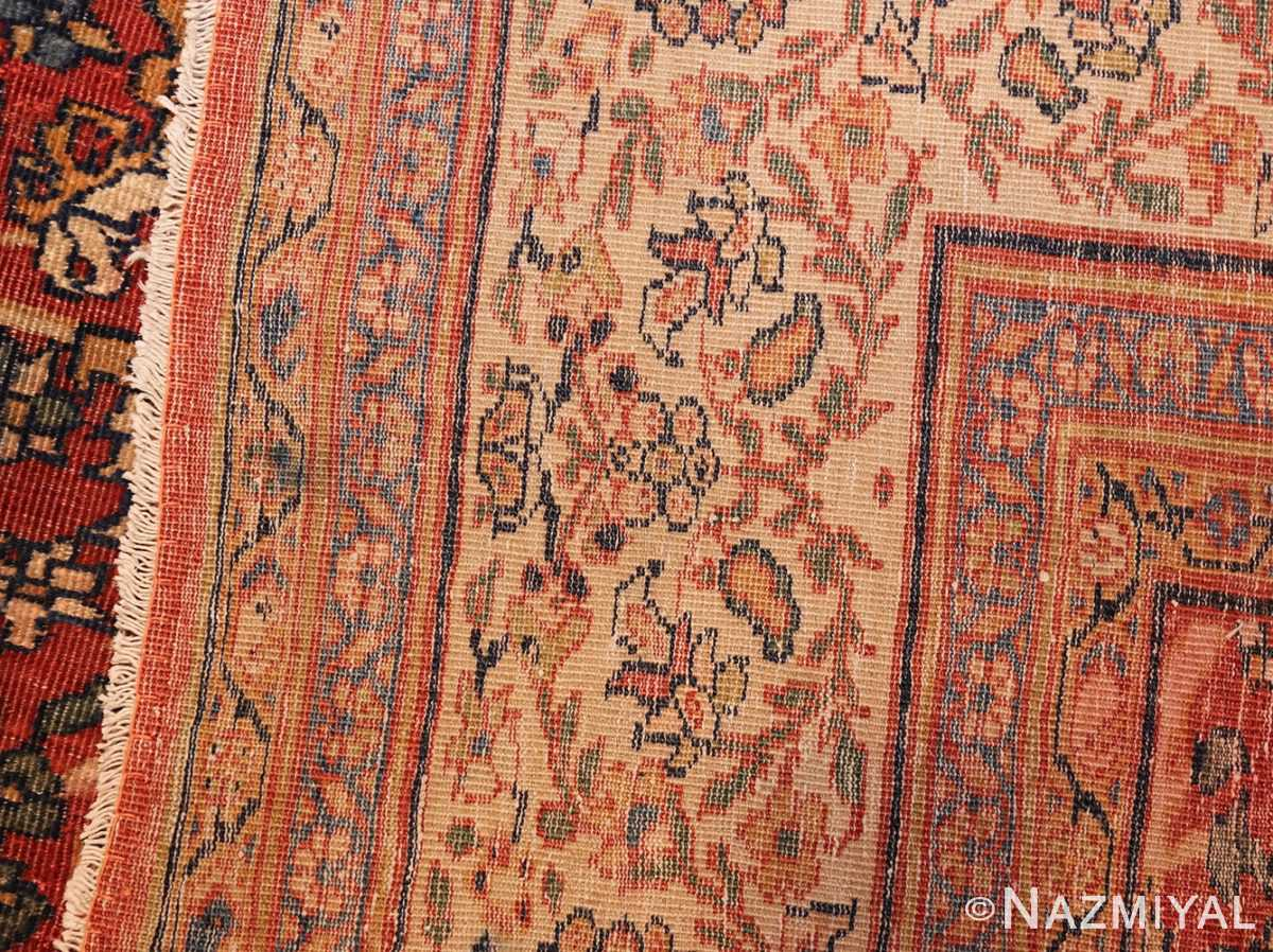 fine antique persian sarouk farahan rug 43447 weave Nazmiyal