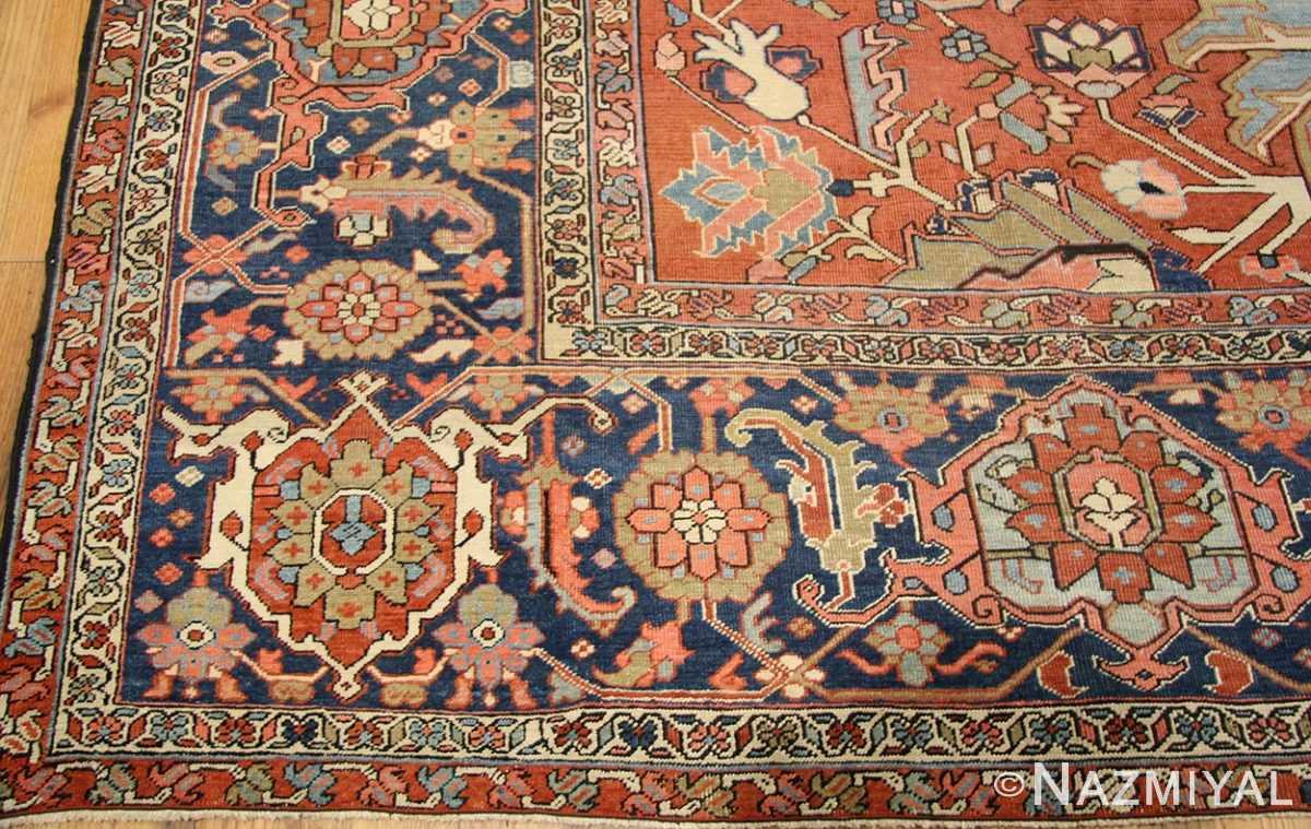 antique persian serapi rug 43696 border Nazmiyal