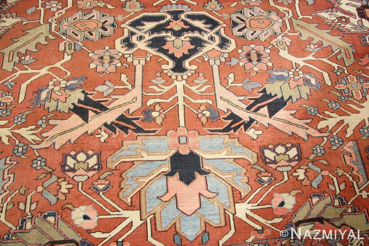 antique persian serapi rug 43696 field Nazmiyal