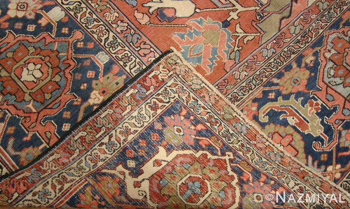 antique persian serapi rug 43696 weave Nazmiyal