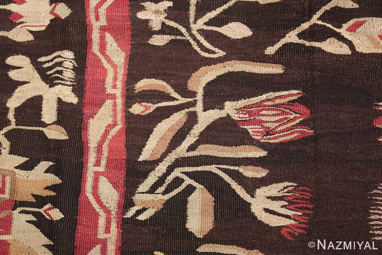 antique romanian bessarabian rug 40847 flower Nazmiyal