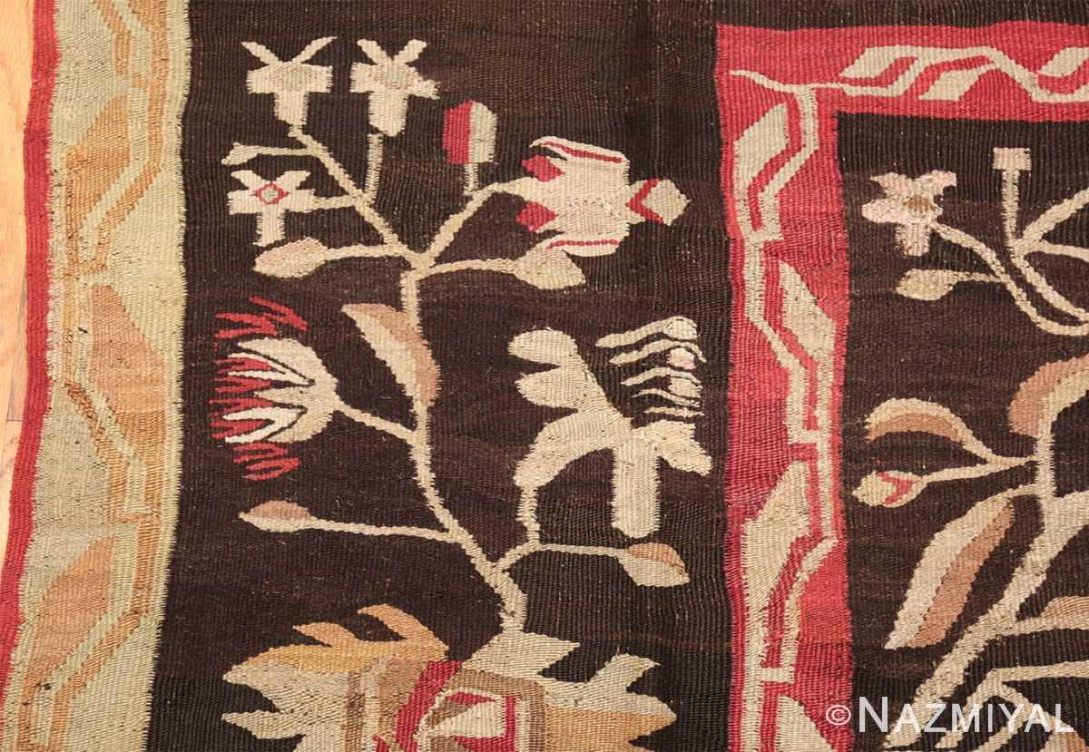 antique romanian bessarabian rug 40847 rose Nazmiyal