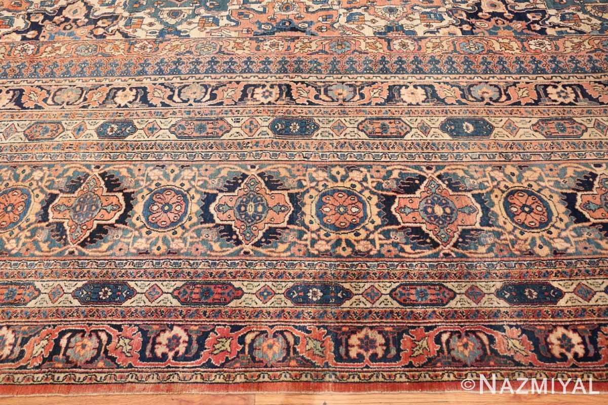 Border large oversized Antique Khorassan Persian rug 44046 by Nazmiyal
