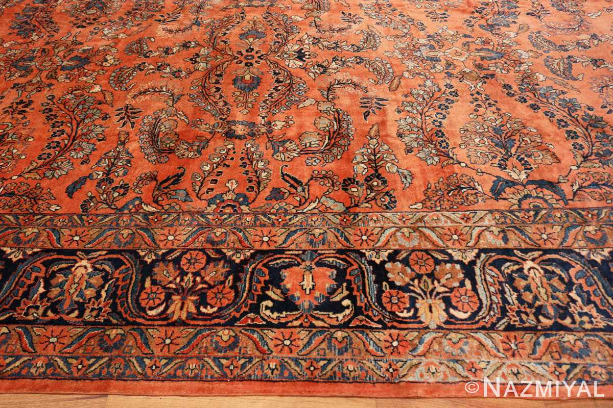 Border Large size Antique Persian rust colored Sultanabad rug 40470 by Nazmiyal