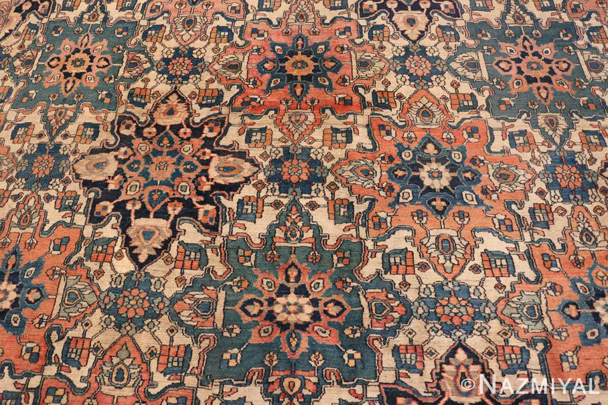 Close-up large oversized Antique Khorassan Persian rug 44046 by Nazmiyal