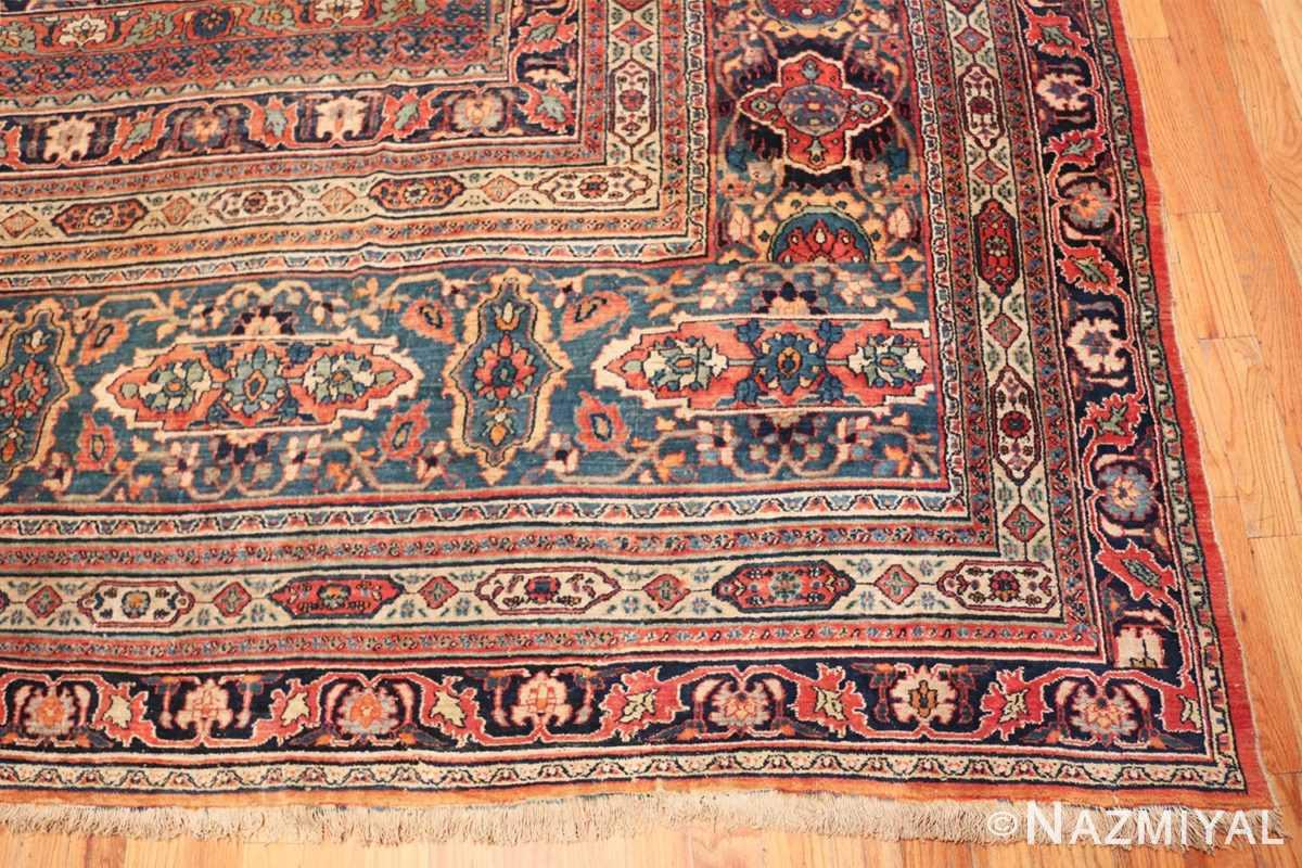 Corner large oversized Antique Khorassan Persian rug 44046 by Nazmiyal