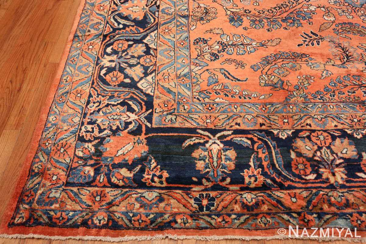 Corner Large size Antique Persian rust colored Sultanabad rug 40470 by Nazmiyal