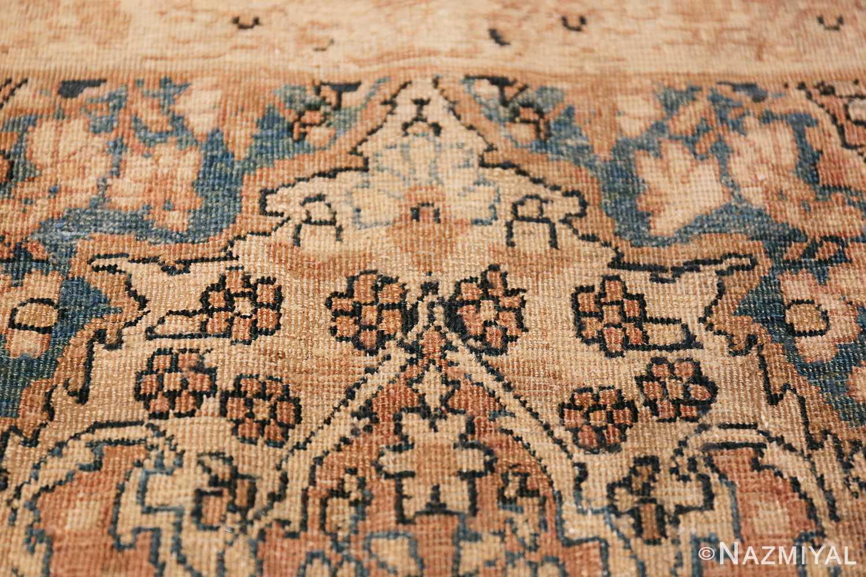 Decorative Fine Antique Room Size Persian Kerman Rug 42486 Texture Closeup Nazmiyal