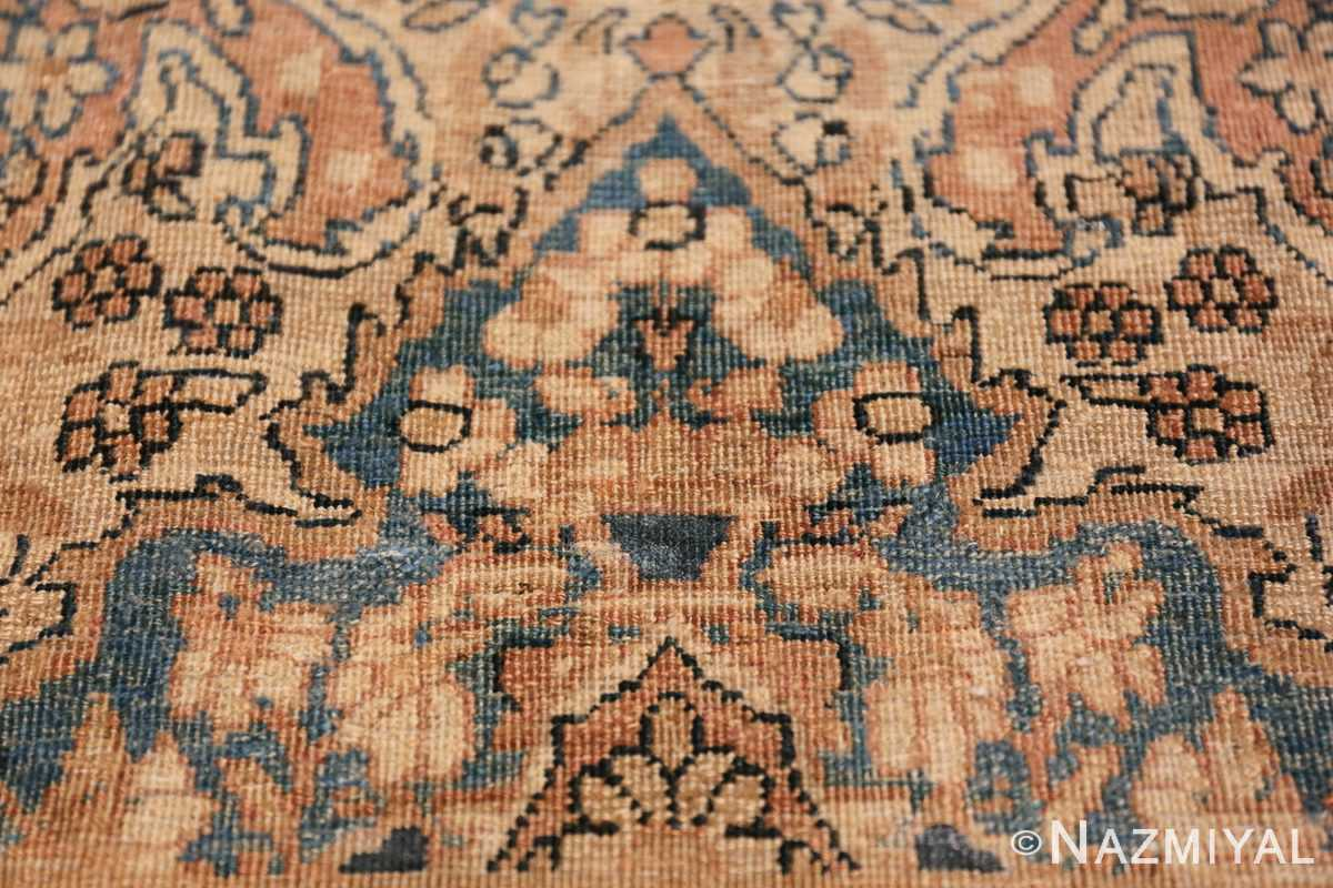 Decorative Fine Antique Room Size Persian Kerman Rug 42486 Three Ivory Flowers Nazmiyal