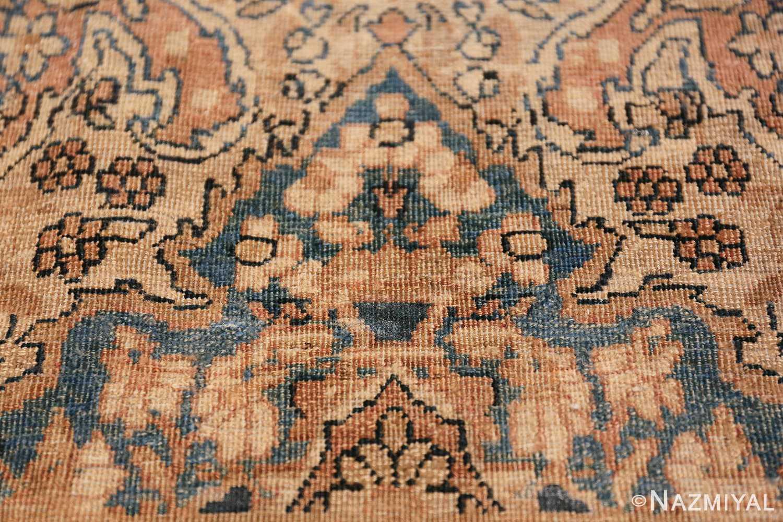 Decorative Fine Antique Room Size Persian Kerman Rug 42486 Three Ivory Flowers Nazmiyal