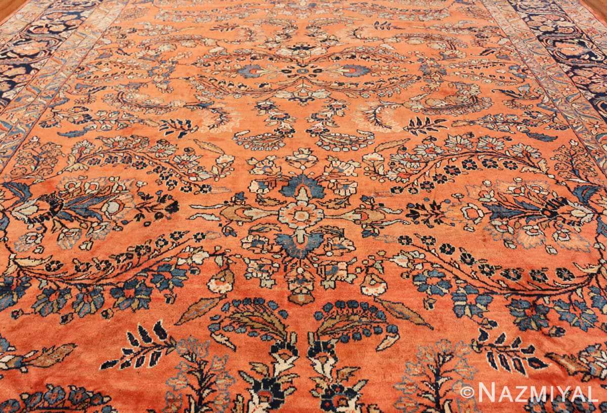Field Large size Antique Persian rust colored Sultanabad rug 40470 by Nazmiyal