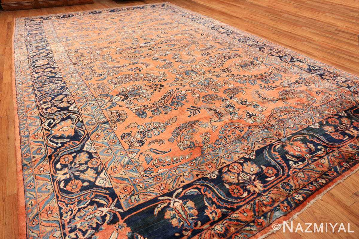 Full Large size Antique Persian rust colored Sultanabad rug 40470 by Nazmiyal