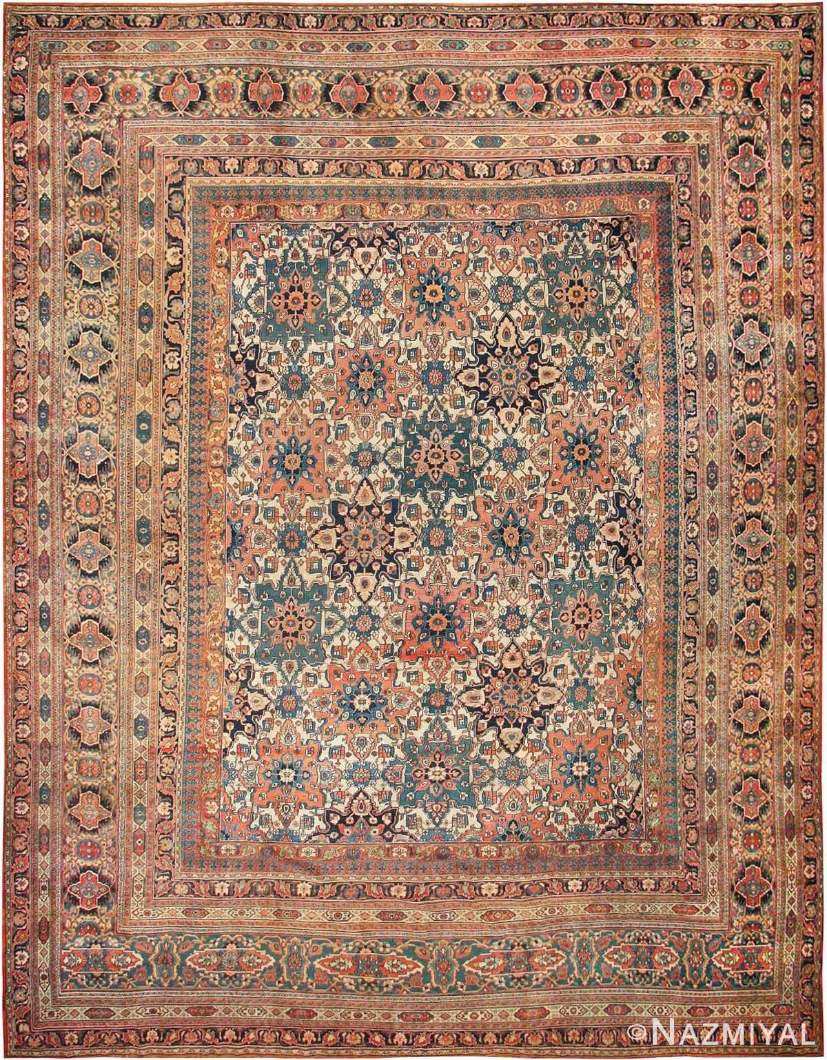 Large Oversized Antique Khorassan Persian Rug 44046 Nazmiyal