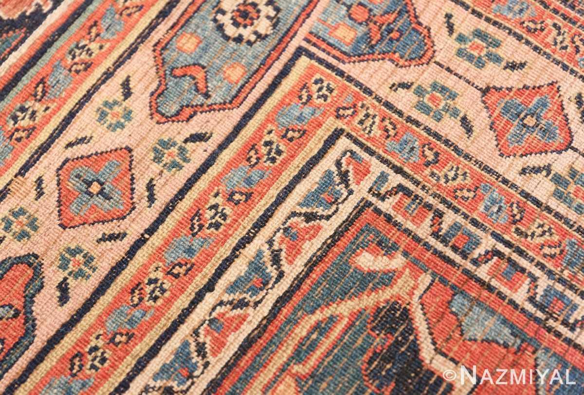 Weave detail large oversized Antique Khorassan Persian rug 44046 by Nazmiyal