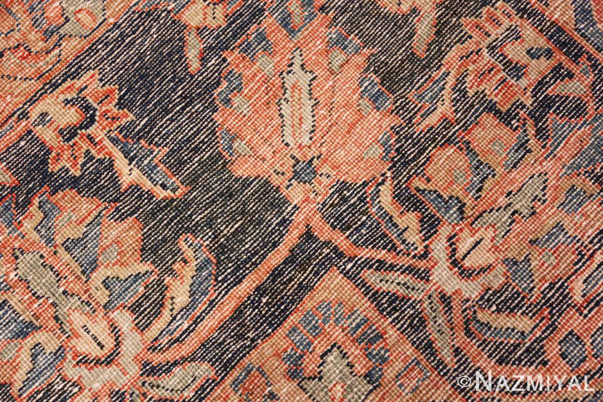 Weave detail Antique Persian rust colored Sultanabad rug 40470 by Nazmiyal