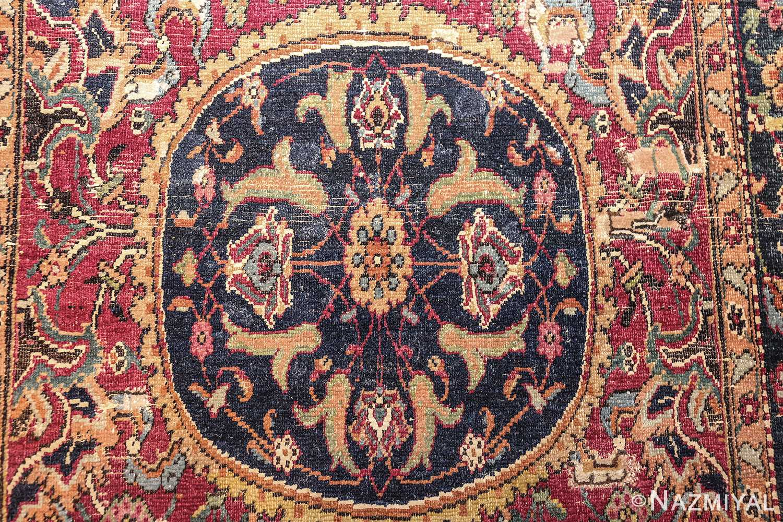 antique 17th century persian esfahan rug 8034 medallion Nazmiyal