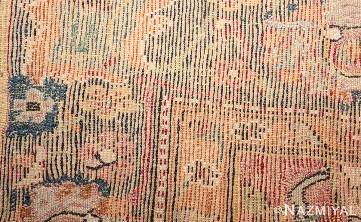 antique 17th century persian esfahan rug 8034 weave Nazmiyal