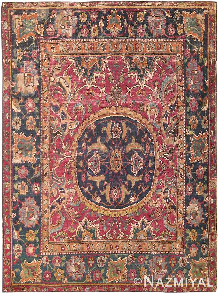 Antique 17th Century Persian Isfahan Rug #8034 by Nazmiyal Antique Rugs