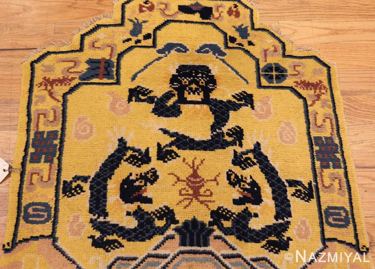 antique chinese seat cover 3219 face Nazmiyal