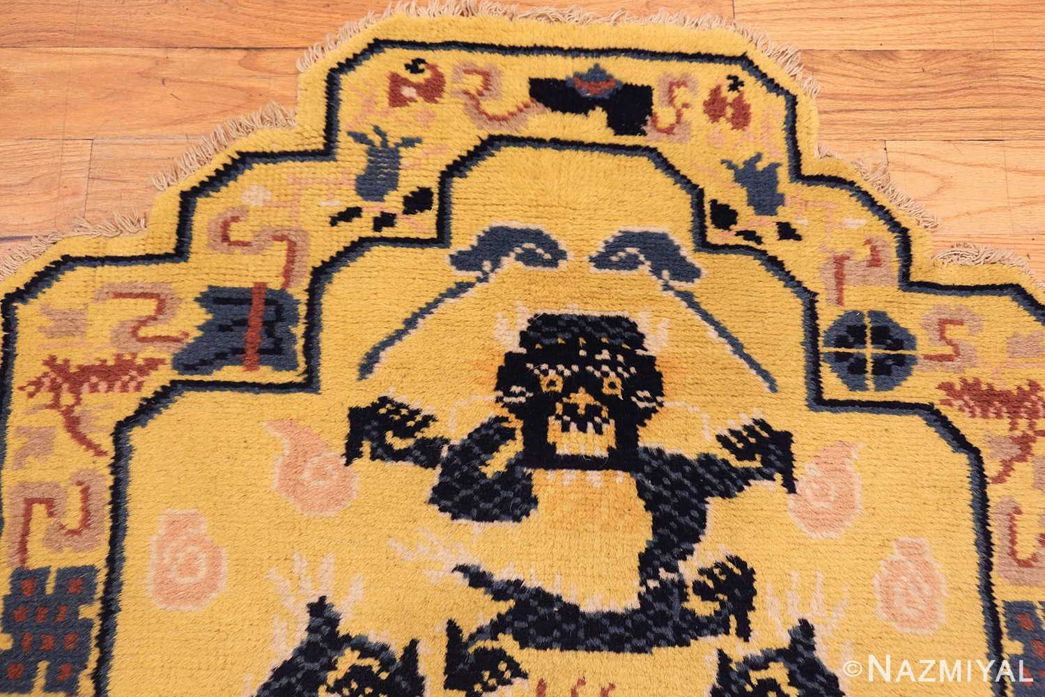 antique chinese seat cover 3219 top Nazmiyal