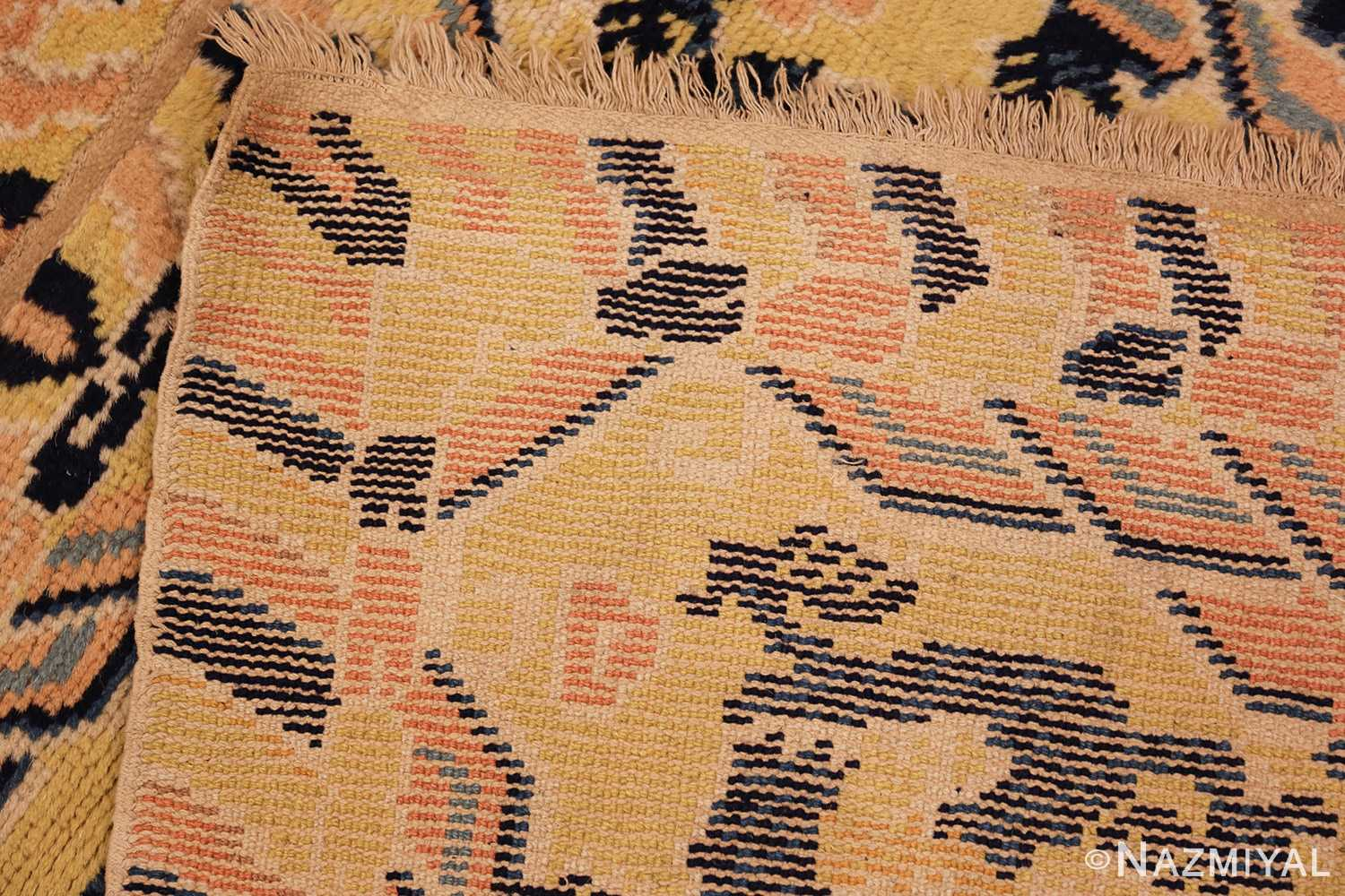 antique chinese seat cover 3219 weave Nazmiyal