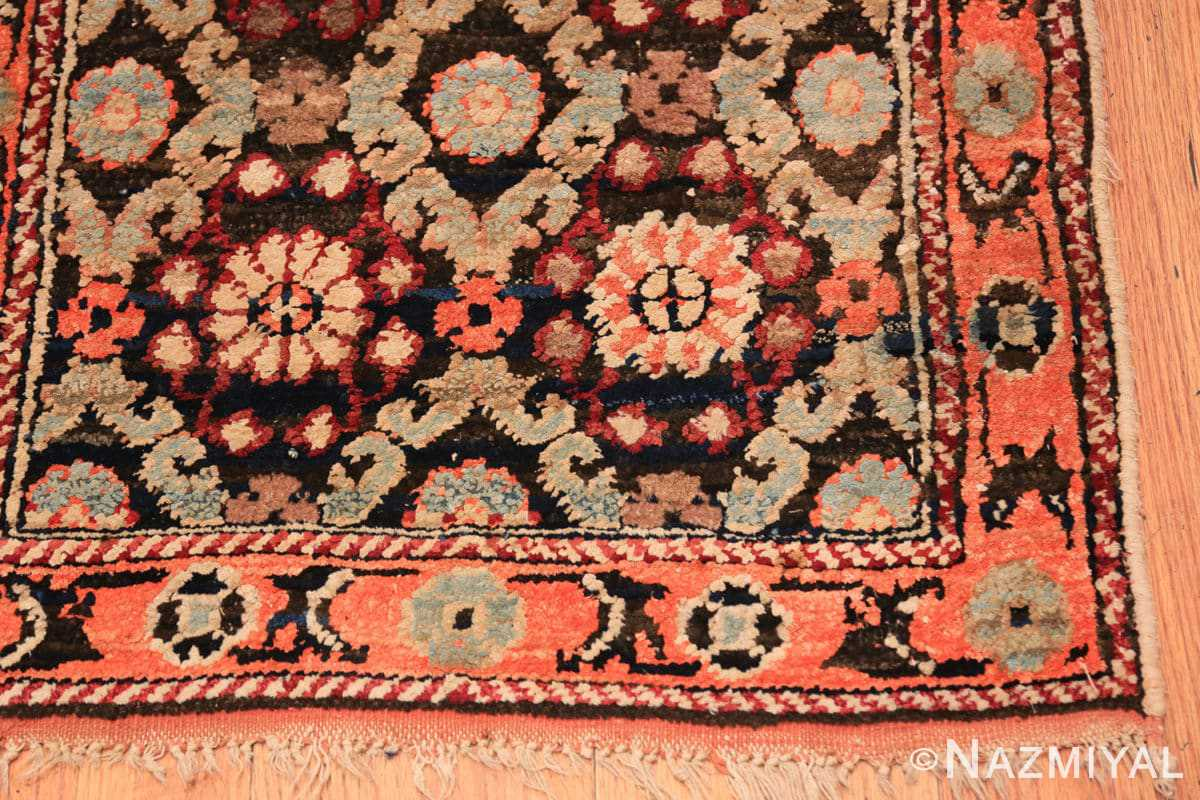 Corner small antique silk and cotton Indian Agra rug 41163 by Nazmiyal