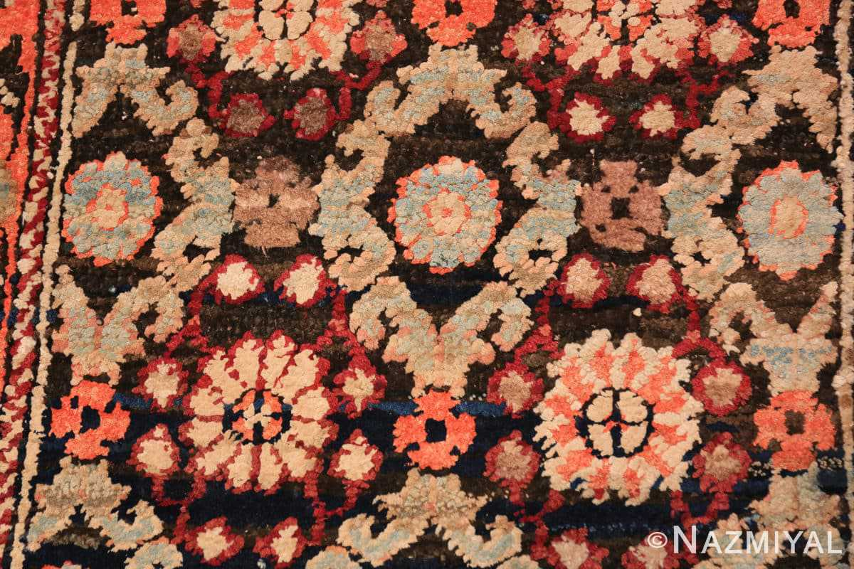 Detail small antique silk and cotton Indian Agra rug 41163 by Nazmiyal