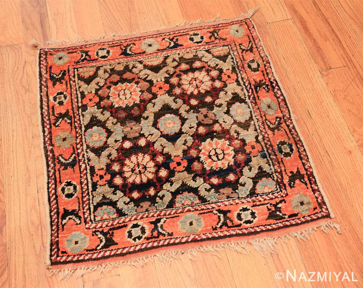 Full small antique silk and cotton Indian Agra rug 41163 by Nazmiyal